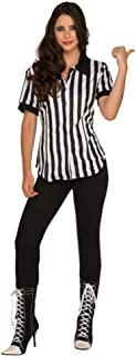 PIZAZZ Women's Fitted Football Referee Shirt Costume