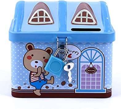 Money Lock Money Box Storage Box Lockable Saving Piggy Bank Protect Cash Coins