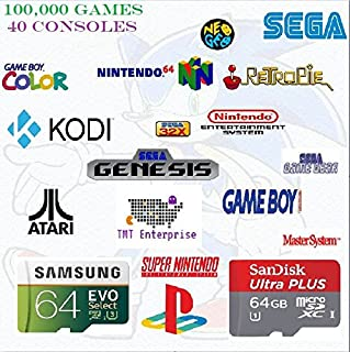 64GB Retropie With 100,000 Games, KODI, and PIXEL OS