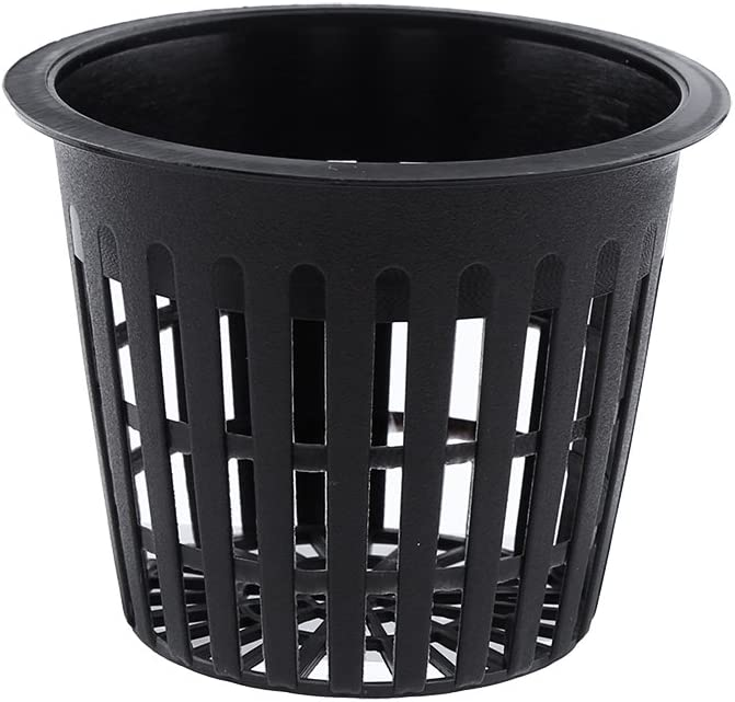 Zerodis 10PCS Planting Cups Hydroponic Mesh Net Cup Container for Garden Flower Plant Grow, Black