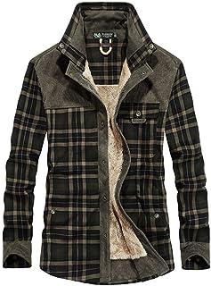 Saoye Fashion Camisas abrigadas para Hombres Camisa térmica para Hombres Camisa de Ropa de Fiesta Franela Chaqueta de Invi...