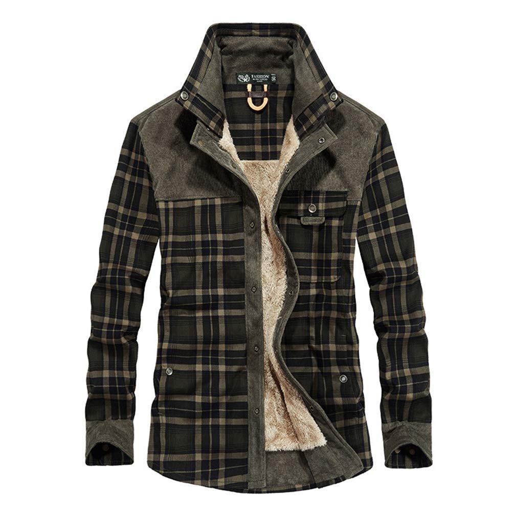 ACZZ Camisa cálida de invierno para hombre, leñador acolchado para hombre Camisa casual de manga larga a cuadros de franela a cuadros con forro de botón Camisa cálida Sherp,Azul,L: Amazon.es: Bricolaje y