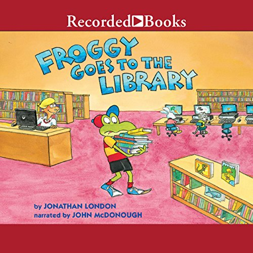 Froggy Goes to the Library audiobook cover art