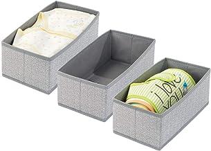 mDesign Soft Fabric Dresser Drawer and Closet Storage Organizer for Toddler/Kids Bedroom, Nursery, Playroom - Rectangular ...