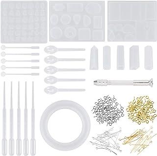 Anpro 165PCS Moules Resine Epoxy Moules Outils Moulle à Bijoux Bricolage pour Pendentif Bracelet DIY Bijoux
