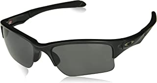 Oakley Men's OO9200 Quarter Jacket Rectangular Sunglasses, Matte Black/Grey Polarized, 61 mm