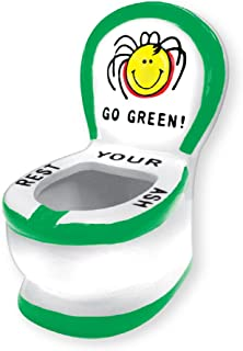 Rockin Gear Ashtray - Ceramic Toilet Design - Funny Novelty Rasta Go Green 'Rest Your Ash' Cigarette Smokers Ashtray