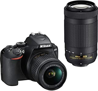 Nikon D3500 DX-Format DSLR Two Lens Kit with AF-P DX Nikkor 18-55mm f/3.5-5.6G VR & AF-P DX Nikkor 70-300mm f/4.5-6.3G ED (Black) 16 GB Class 10 SD Card and DSLR Bag