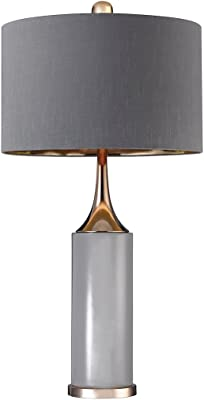 Elk Lighting D2749 Cone Neck Table Lamp-Tall, Gold, Grey