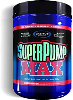 Gaspari Nutrition - SuperPump MAX - The Ultimate Pre Workout Powder, Sustained Energy Preworkout, Nitric Oxide Booster, Mu...