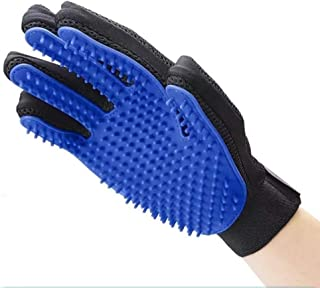 Pet Hair Remover Glove - Gentle Pet Grooming Glove Brush - Efficient Deshedding Glove - Massage Mitt with Enhanced Five Finger Design - Perfect for Dogs & Cats with Long & Short Fur - Right Hand
