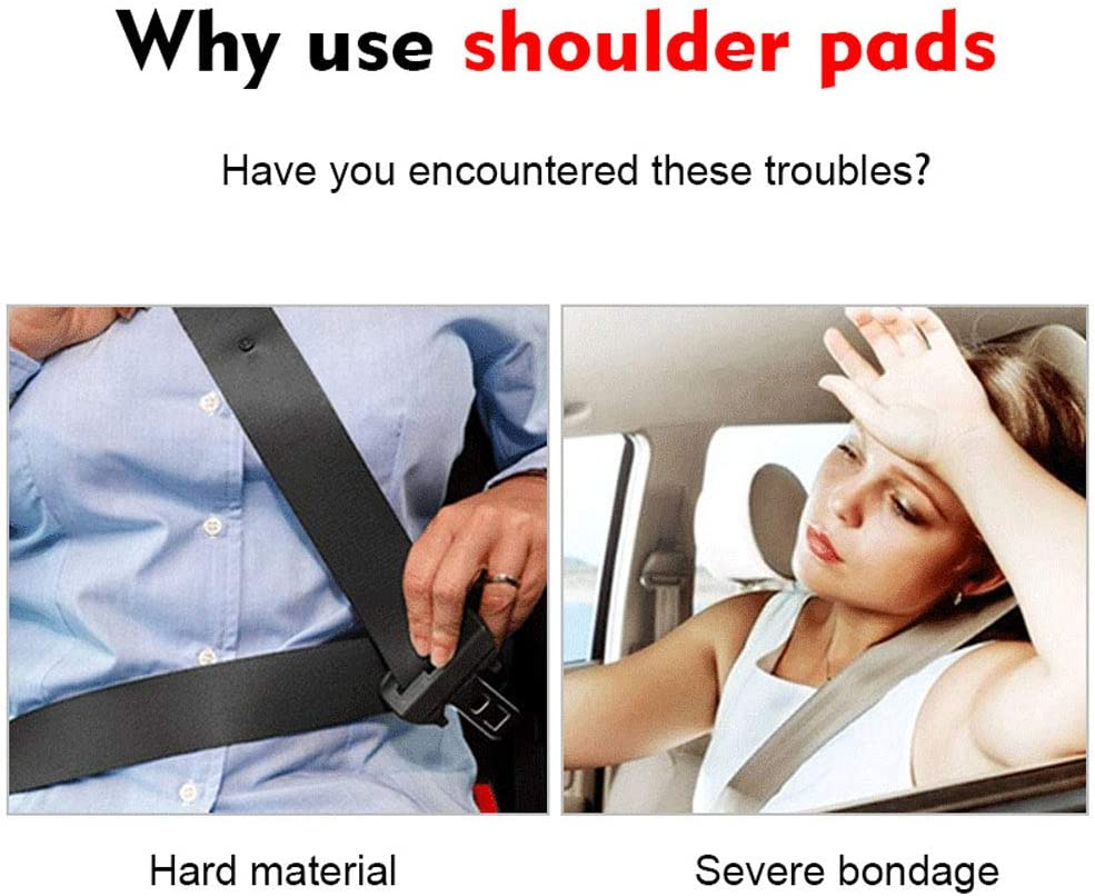 Seat Belt Strap Shoulder Pad for Adults and Children Pu Car Safety Seat Belt Cushion Interior Accessories 1 Pair Car Seat Belt Shoulder Pads for Lexus F Sport