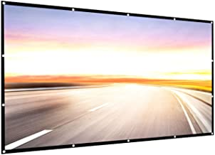 Projector Screen 150 inch 16:9 HD Foldable Anti-Crease Portable Projection Movies Screen for Home Theater Outdoor Indoor S...