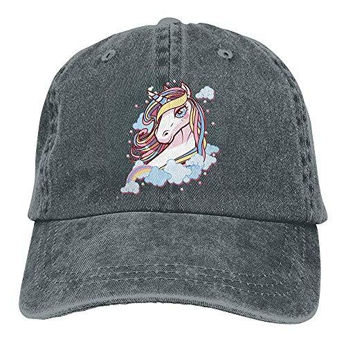 Egoa hoed unisex eenhoorn met wijnoogst-denim-Chic-verstelbare verrekijker hoed baseballmuts met de grote ogen