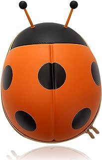 TangoKids Ladybug Shaped Cute Backpack For Kids and Toddlers 3D School Bag, Baby Boys Girls Pre School Kindergarten Play School Backpack Bag, Light Weight & Soft material Birthday Gift Return Gift - (Orange)