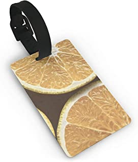 Citron Orange Citric Acid Citrus Orange Juice Travel Luggage Tags Personality Business ID Card Holder For Luggage Tags