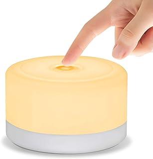 LEDGLE ミニ ベッドサイドランプ LED 間接照明 ナイトライト USB充電式 マグネット 磁石付き タッチセンサー 室内照明用 足元ライト 目に優しい 省エネ ホワイト