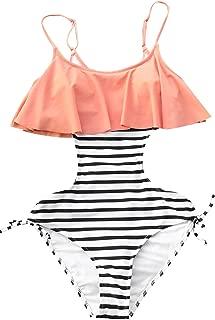 Women's Sweet Smile Falbala Tie One-Piece Swimsuit