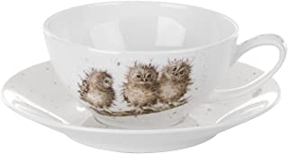 Wrendale by Royal Worcester Cappuccino Cup and Owls Saucer, Set of 1