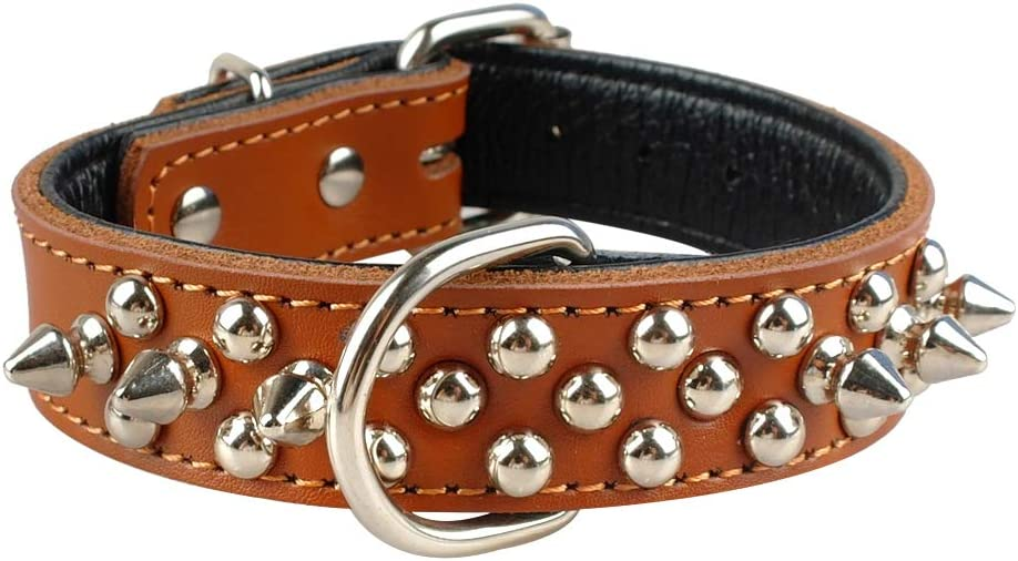 Leather Occupied Rivet Dog Collar Spikes with N Durable sale Ranking TOP19 Collars