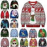 BFBMY Unisex Uomini Donne 2020 Brutto Natale Maglione Santa Elf Divertente Natale Falso Capelli Jumper Autunno Inverno Top Abbigliamento All'ingrosso (Colore: 022 Taglia piccola, Taglia: XL 81 95) kg