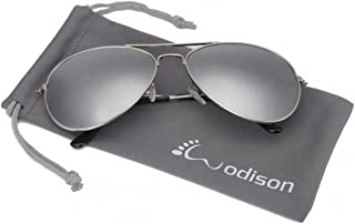 386982d1f9 WODISON gafas de sol de aviador de la vendimia reflectante lente de espejo