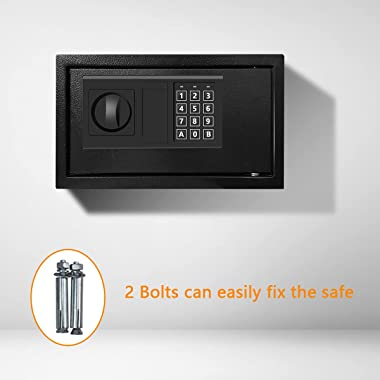 SamYerSafe Safe Box with Sensor Light,Security Lock Box, Steel Construction Hidden Electronic Safe with Lock,0.4 Cubic Feet ,