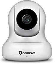 Dericam Home Security Camera, 2-Megapixels 1080P WiFi IP Security Camera with Stylish Appearance Design, Pan/Tilt Control, 4X Digital Zoom, Night Vision and Two-Way Audio, 2M-P2, White