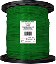 product image for Solid THHN Building Electrical Wire Durable Green Jacketed Cerrowire(2500 ft. 12 Gauge)