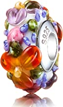 ATHENAIE Genuine Murano Glass 925 Silver Core Blue Hawaiian Lei Fit All European Bracelets Charm Bead