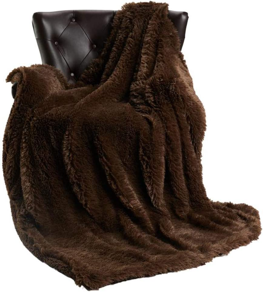 COSUSKET Throws Flutty Blankets Long Pile Sale price Soft 5% OFF P Sofa Decorative
