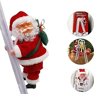 Electric Christmas Climbing Santa Toys Super Climbing Ladder Santa Claus Tree Holiday Party Home Door Wall Christmas Decoration Hanging Ornaments