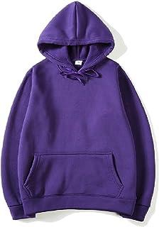 XINHEO Men Pullover Plus Size Hooded Solid Pullover Hoodie Sweatshirt