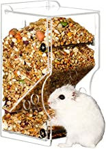 Amakunft 370ML Hamster Feeder, Bin Feeder with Bracket Automatic Bottle Dispenser with Holder for Pigeon Parrots Mini Hedgehog Hamster Small Animal