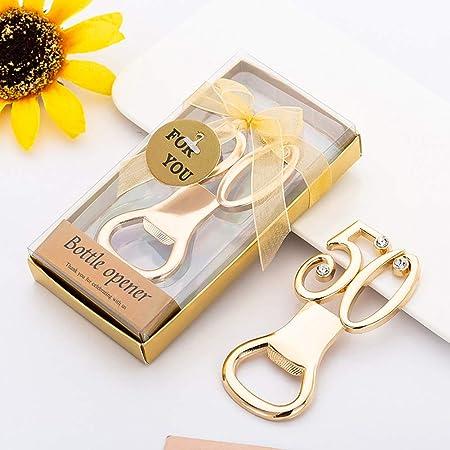 Apriscatole Oro Per 50esimo Anniversario Di Matrimonio Bomboniere Souvenir Regalo Per Gli Ospiti 20 Pezzi Amazon It Casa E Cucina