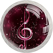 Lade handgrepen trekken ronde kristallen glazen kast knoppen keuken kast handvat,Muziek muzikale noot