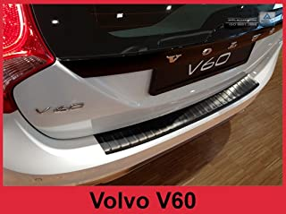 ZIC Motorsports 2013-2017 Volvo V60 and Cross Country - Graphite Brushed Stainless Steel Rear Bumper Protector
