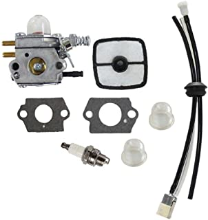 HURI Carburetor with Fuel Line Kit for C1U-K52 C1U-K47 Echo SRM2100 GT2000 GT2100 PE-2400 GT-2400 PP-1200 SRM-2410 PP-1250 PP-800 PPF-2100 PPF-2110 PE-2000 LHE-2475 TT-24 SHC-1700 PPT-2100 SHC-2100