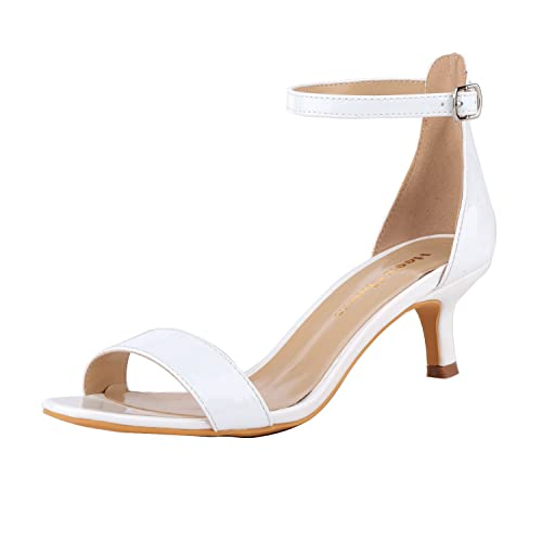 facf0a83b0b Women s Stiletto Open Toe Low Heel Sandal Ankle Strap High Heels 5CM Sandals  Working Bridal Party