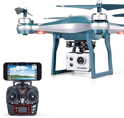 LOLOP UAV GPS WiFi Professionelle Luftbildfotografie Genaue Positionierung Niedrige elektrische Rückholflugzeuge Quadcopter,Silber720P