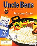 UNCLE BEN'S Riz Long Grain  Cuisson rapide 10 Min 500 g (4 x 125 g)