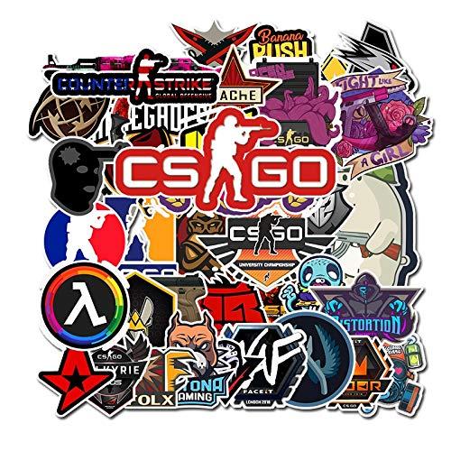 50 PCS Lot CS GO Sticker Motorcycle Anime Game Sticker For Boys Laptop Funny Graffiti Stickers Mix Retro Waterproof Pegatinas F5