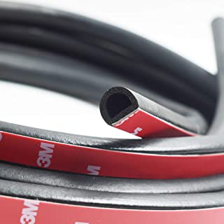 """M M SEALS A061-25F Sponge Rubber Seal with Self Adhesive 25//64/"""" Height X 25//32/"""" Width Universal weatherstrip Extrusion Neoprene Strip 25 Feet"""