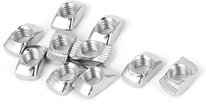 PZRT 2020 Series 50-Pack M5 T-Nuts,Carbon Steel Nickel-plated Half Round Roll In Sliding T Slot Nut 6mm Slot Aluminum Profile Accessories