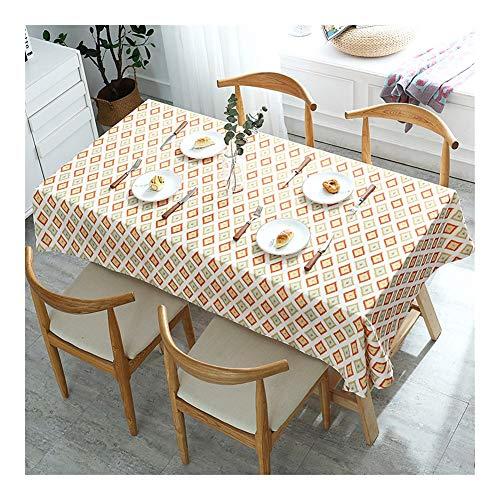 Mantel rectangular Mantel for la cocina a las manchas a prueba de polvo de tela decorativa Mantel impermeable a prueba de aceite mesa central Escritorio trapo de la estera de tabla fácil de limpiar