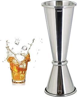 Style Double Cocktail Jigger, 304 acero inoxidable 30 ml 60 ml taza de medición para bar hogar Bartender fiesta vino bebid...