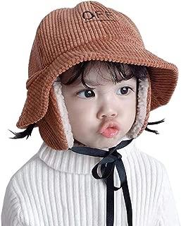 Xiang Ru Child Thickened Bucket Hat Winter Earflap Cap Brown