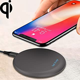 LZSUS for M1 Intelligent UFO Design Qi Standard Wireless Charger with Indicator Light, Support Fast Charging, for iPhone, Galaxy, Huawei, Xiaomi, LG, HTC and Other QI Standard Smart Phones(Grey)