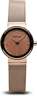 BERING Time 10122-366 Womens Classic Collection Watch with Mesh Band and Scratch Resistant Sapphire Crystal. Designed in Denmark.