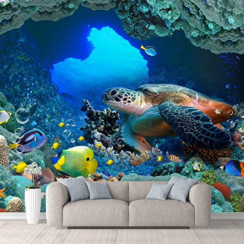 wall26 Wall Mural The Beautiful Undersea World Removable Self-Adhesive Large Wallpaper - 66x96 inches